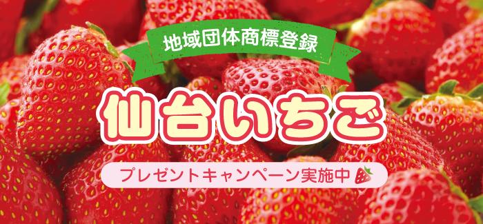 あま~い「仙台いちご」を食べて、総計225名様に当たるプレゼントキャンペーンに応募しよう♪